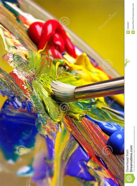 paint mix mixing paint stock image image of blue abstract colour