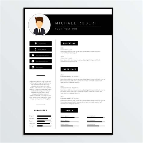 Corporate Resume Template Vector Download Free Vector Art Stock Graphics Images Corporate Resume Template Free