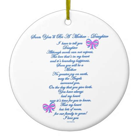 daughter expecting 1st baby christmas ornaments zazzle