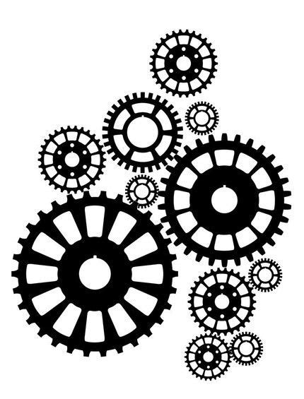 printable gear stencils gear template stuff to make and do pinterest