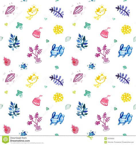 pattern birthday cute watercolor seamless vector cute pattern multicolored