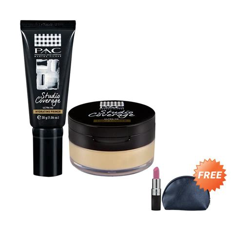 Harga Lipstic Pac jual pac studio coverage primer 01 powder set make