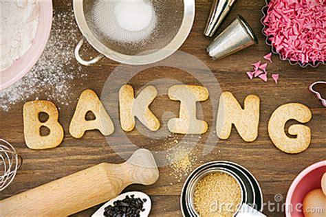 baking cookies stock photo image