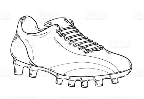 coloring pages football shoes fu 223 ballschuhe skizze vektor illustration 486837545 istock