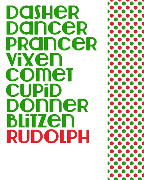 printable reindeer names reindeer reindeer names and names on pinterest