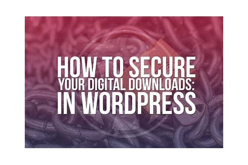 how to protect download page in wordpress