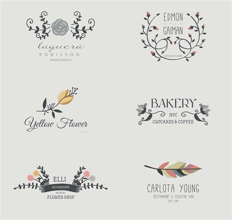 Lovely wreaths cafe shop logo set vector   Free download