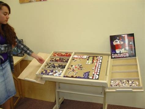 jigsaw puzzle table with drawers australia 95 best puzzle table project images on anger