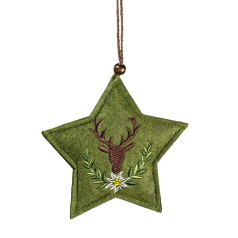 5 quot felt embroidery christmas ornament star xsj7214