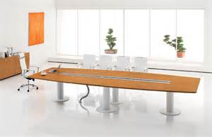 Narrow Glass Cabinet Modern Conference Table Boat Shaped Conference Table
