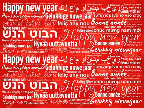 why is the new year date different happy new year in different languages stock vector