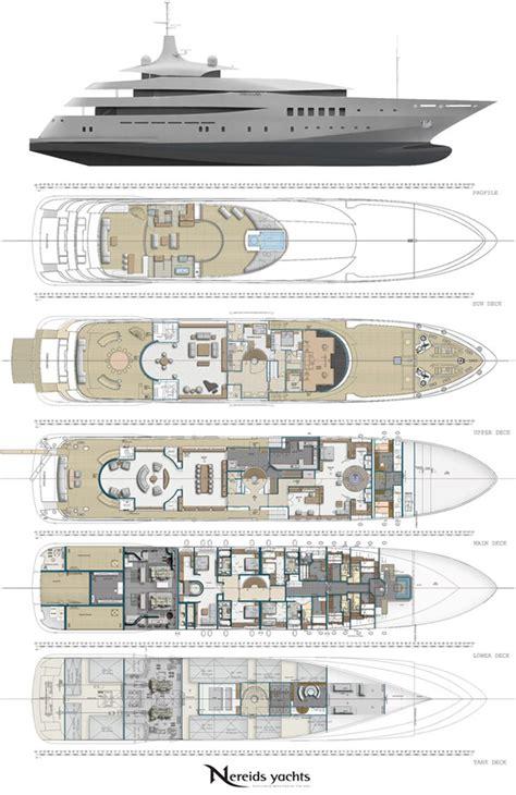 mega yacht layout superyacht pherousa layout image courtesy of nereids