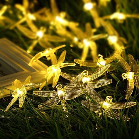 dragonfly solar string lights unique decorative string light for holidays home designing