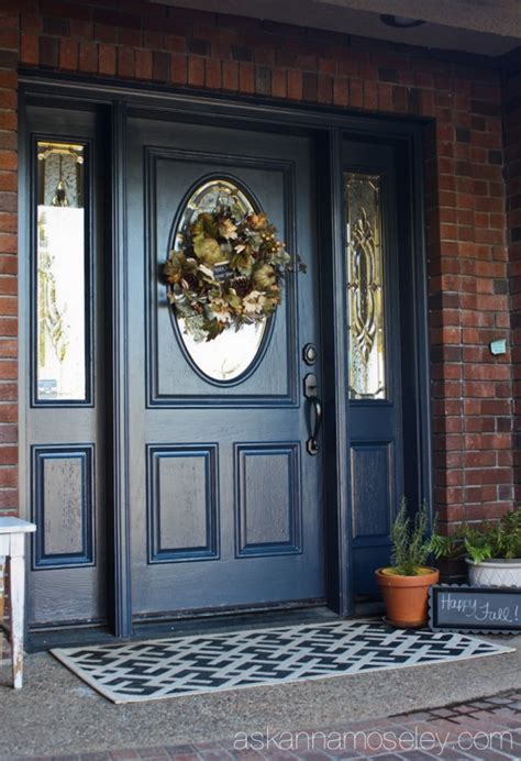 front door colors for brick houses blue front door ask anna decorate doors pinterest