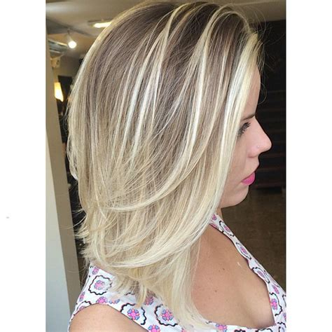 blonde mid lenth layers straight mid length ash blonde hair with layers medium