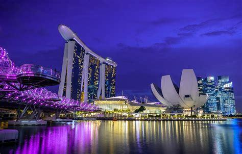 wallpaper night lights singapore  hotel images