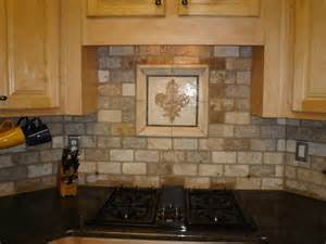 Rustic Kitchen Backsplash Ideas rustic kitchen backsplash idea with decoration in the center a gas