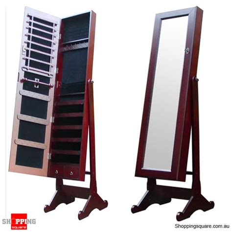 full length mirror jewellery cabinet australia wooden mirrored jewellery full length cabinet mahogany