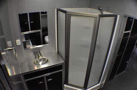 cargo trailer bathroom 38 intech living quarters gooseneck trailer