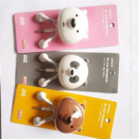 Miniso Owl Series Wallet panda bare bears series earphones holder miniso mobiles tablets mobile tablet
