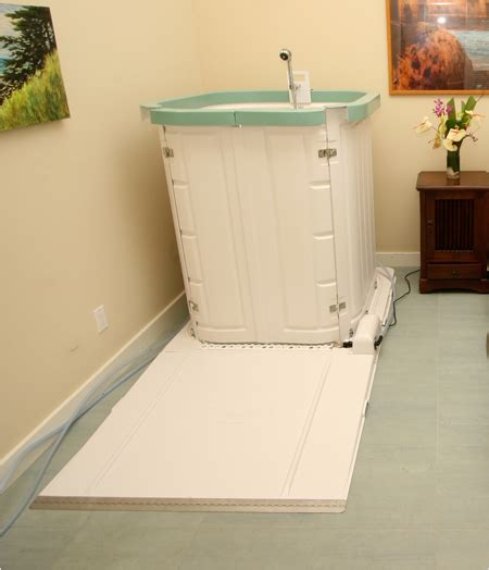 Portable Shower for Handicap Access   Plumbed Elegance