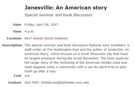 janesville an american story books kris olds globalhighered