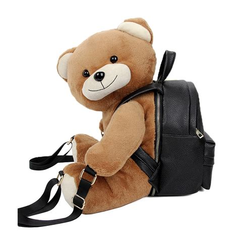 plush teddy backpack stuffed animals fashion backpack school bag small