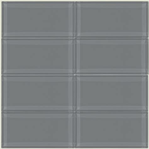 Home Depot Backsplash Kitchen 9 95sf Ocean Gray Glass 3 X 6 Inch Subway Tile