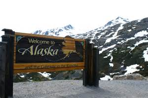 Welcome To Sign File Welcome To Alaska Sign On The Yukon Highway Jpg