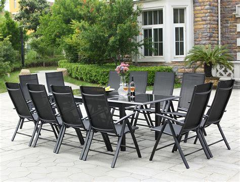 table de jardin 12 personnes table de jardin extensible ravenne 12 chaises en aluminium concept usine
