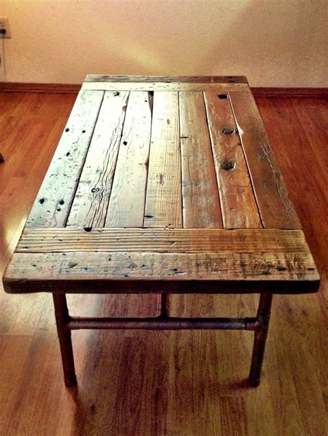 reclaimed wood coffee table knot your average woodworks a new beginning for