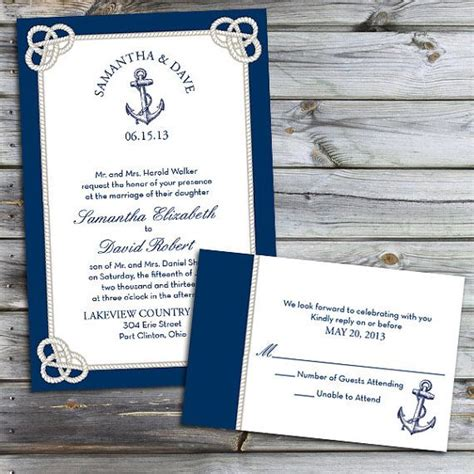 Custom Nautical Knot Wedding Invitations   Nautical