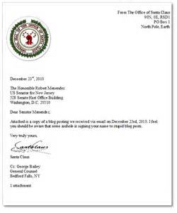 Response Letter From Santa A Reply To Senator Menendez From Santa Watts Up With That