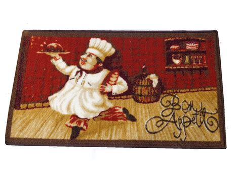 chef rug chef kitchen rug bon appetit