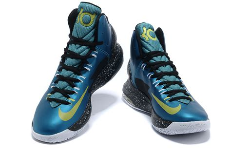 kevin durant high top basketball shoes nike kd v kevin durant basketball shoes lake blue black