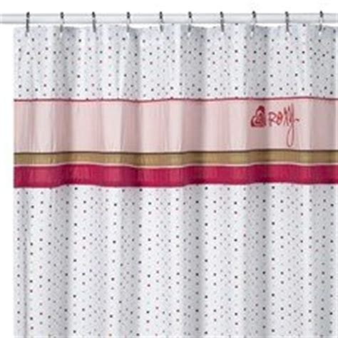 roxy shower curtain com roxy polka dot fabric shower curtain dots