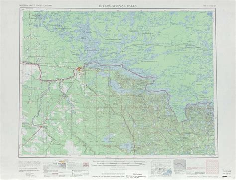 physical map of minnesota international falls topographic maps mn usgs topo
