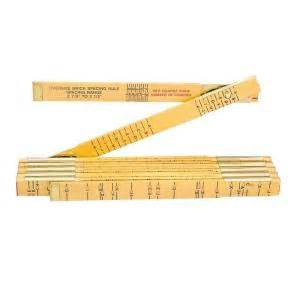 lufkin 6 ft x 5 8 in brick wood ruler t656n the