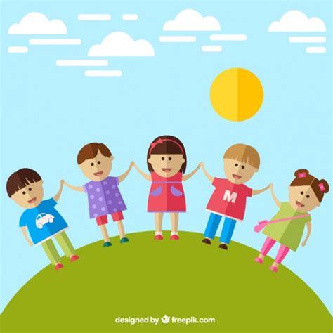 imagenes niños felices animadas ni 241 os felices descargar vectores gratis