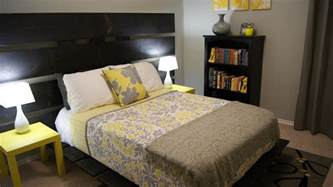 Yellow And Gray Bedroom Ideas yellow and gray bedroom update