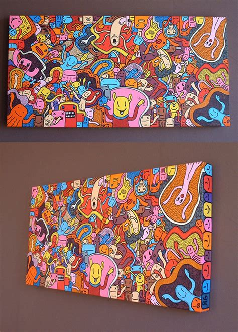 acrylic paint markers canvas painting on behance