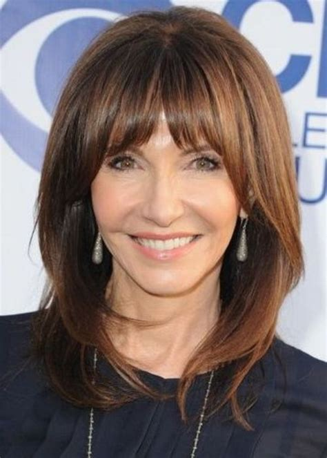 hairstyles for 50 with bangs hairstyles with bangs for women over 50