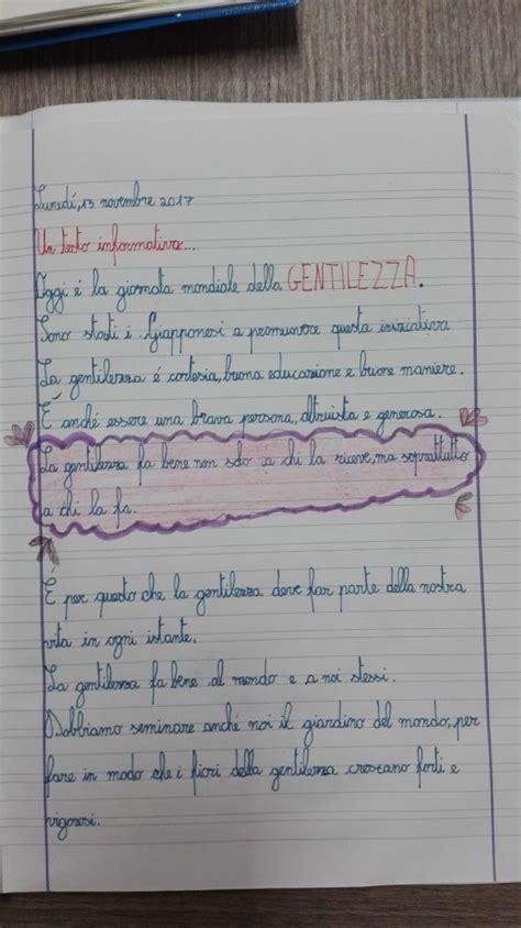 testo a novembre classe terza italiano novembre testo informativo giornata