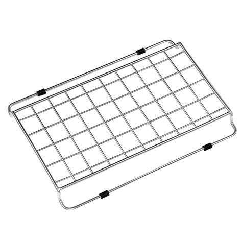 wire rack sink protector home basics 12 37 in x 10 37 in x 87 in chrome sink
