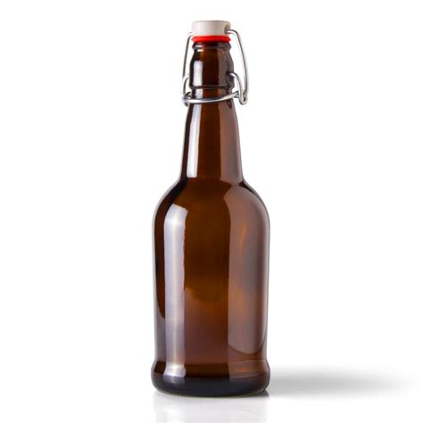 16 oz swing top bottles 12 cs 16 oz amber glass ez cap beer bottle includes