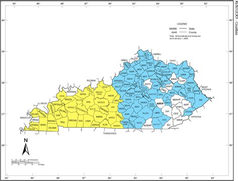 of kentucky colors kentucky color coded map