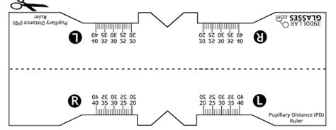 printable pupillary distance ruler what is pupillary distance