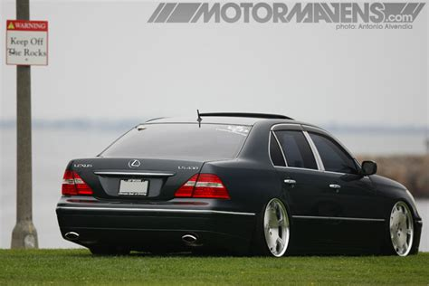 slammed lexus ls430 coverage gt wheelspotting at wekfest long beach
