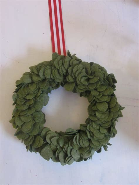 felt wreath the modern cottage company wool felt wreath