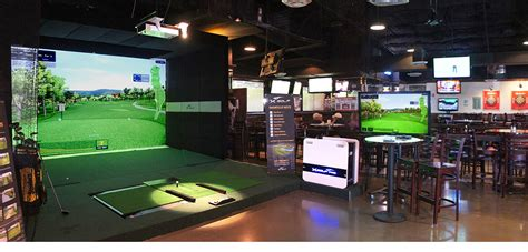 How To Design Your Own Home Bar sports bar grill indoor golf simulator virtual golf